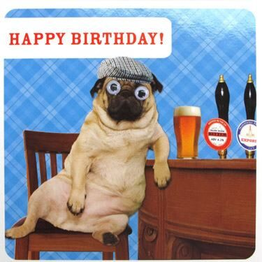 Paperlink Route 69 Pub Happy Birthday Card