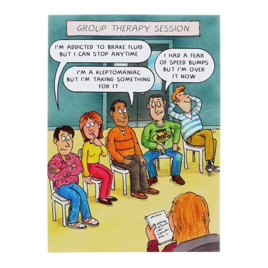 Paperlink group therapy session birthday card temptation gifts bookmarktalkfo Gallery