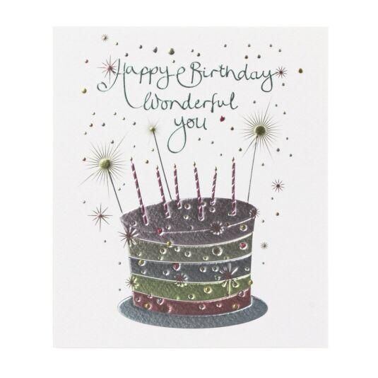 Mimosa 'Happy Birthday Wonderful You' Card
