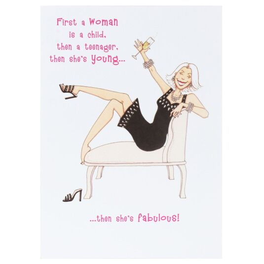 Sassy Fabulous Woman Birthday Card