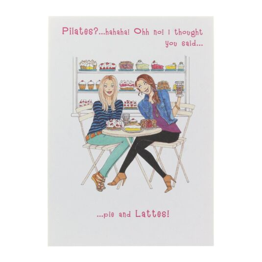 Pie and Lattes Birthday Card