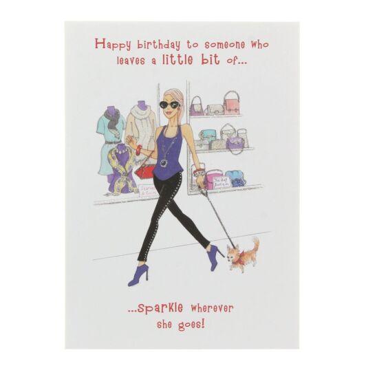 Sparkle Birthday Card
