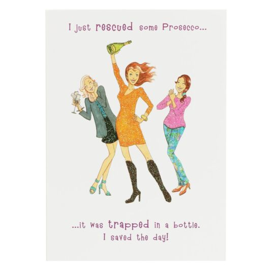 Sassy Prosecco Birthday Card