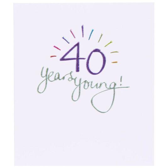 Mimosa 40th Birthday Card
