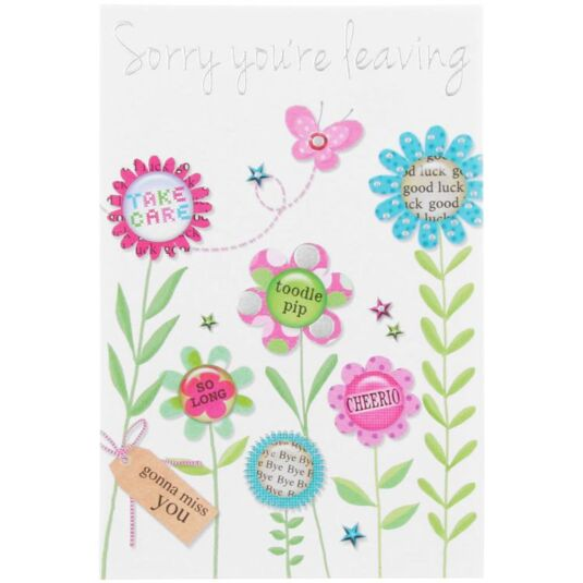 Made With Love Sorry You're Leaving Card