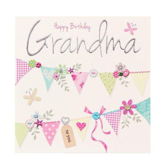 Made With Love Happy Birthday Grandma Card