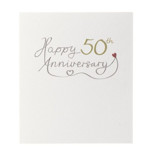 'Happy 50th Anniversary' Card