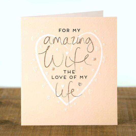 Marzipan Wife Birthday Card