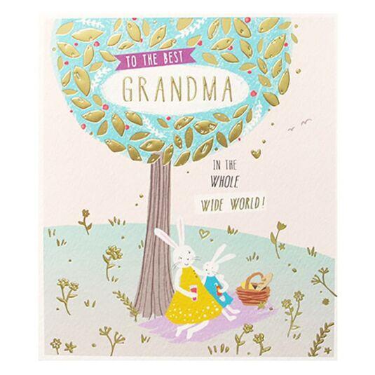 Best Grandma in the World Card