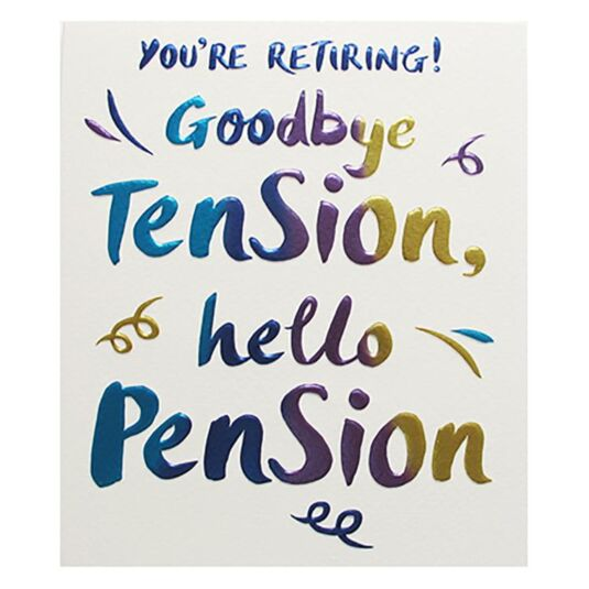 Retirement & Leaving Card