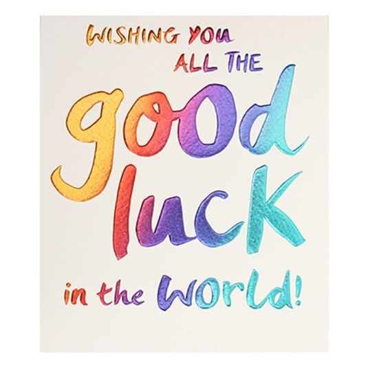 Paperlink Wishing You Good Luck Card Temptation Gifts