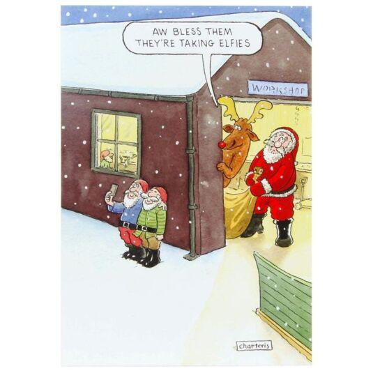 Santa & Co Elfies Christmas Card