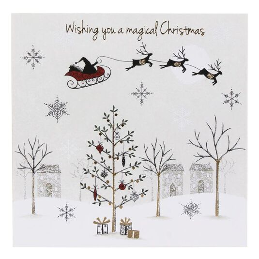 Santa And Sleigh Pack of 6 Christmas Cards Charity Pack