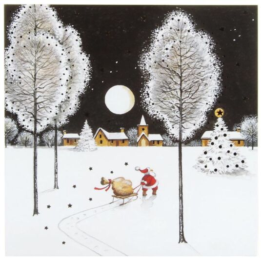 Santa's Sleigh Pack of 6 Christmas Cards Charity Pack