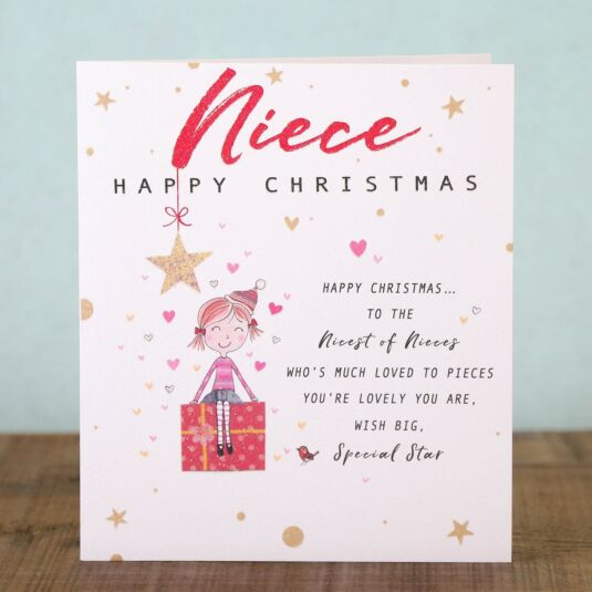 Chit Chat 'Niece' Christmas Card