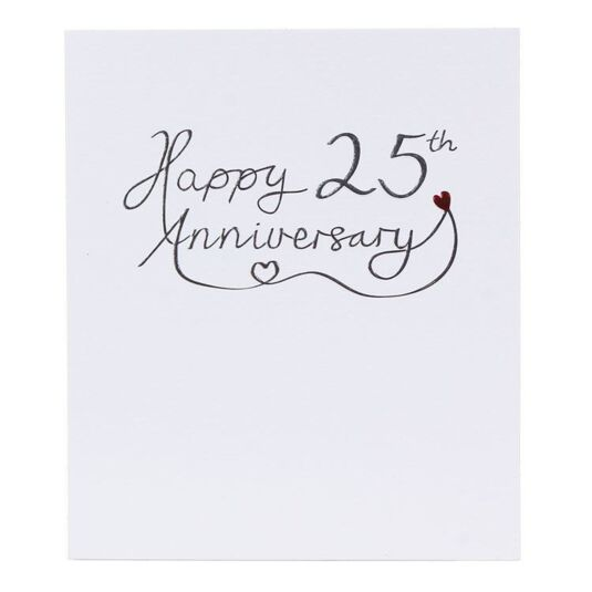 Return Gifts For 25th Wedding Anniversary: Paperlink 25th Wedding Anniversary Card
