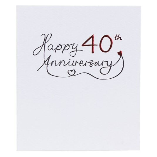 40th Wedding Anniversary Card