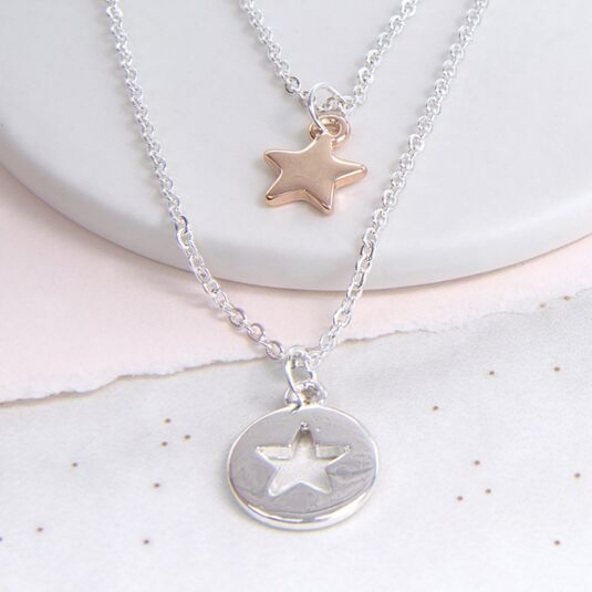 Double Layer Star Necklace