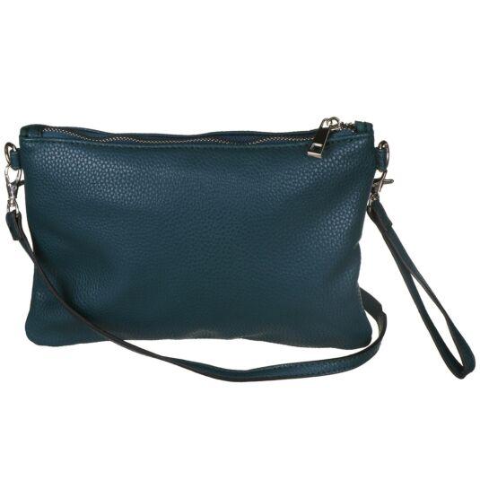 Vegan Leather Convertible Clutch Bag - Teal