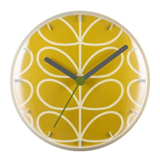 Dandelion Yellow Linear Stem Wall Clock