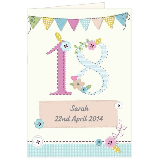 Personalised Birthday Craft Card
