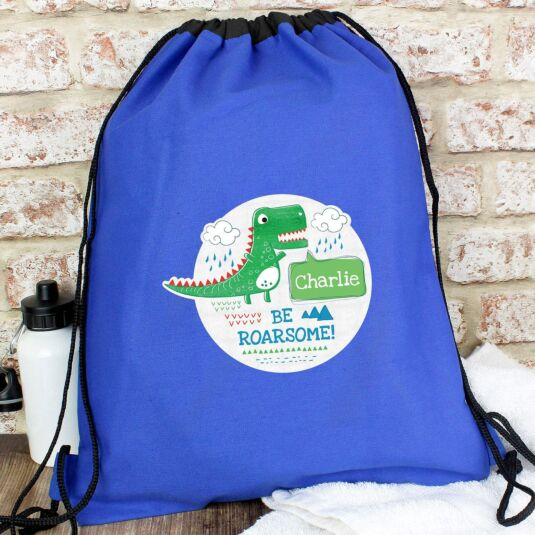 Personalised 'Be Roarsome' Dinosaur Swim & Kit Bag