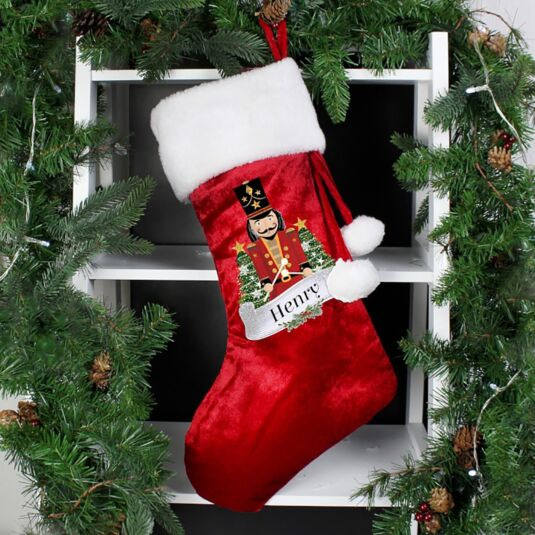 Personalised Red Nutcracker Stocking