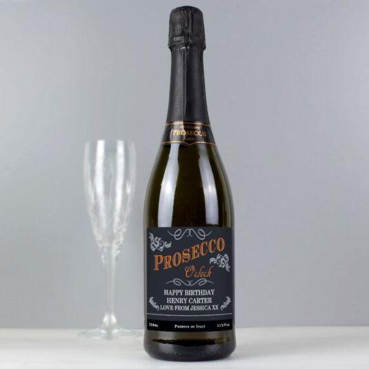Personalised Prosecco O'Clock Bottle of Prosecco