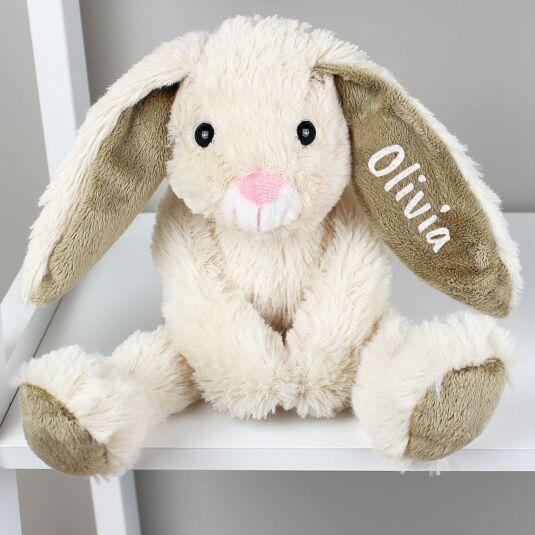 Personalised Cream Plush Bunny