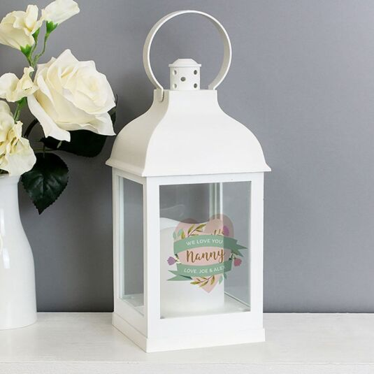 Personalised Floral Mother's Day Lantern