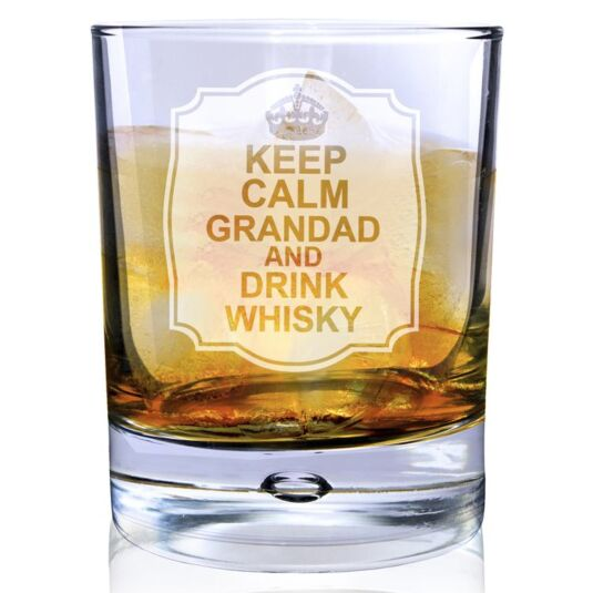 Personalised Keep Calm Bubble Glass