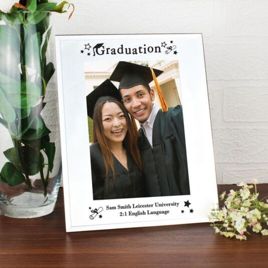 "Personalised Mirrored Glass Graduation 5 x 7"" Frame"