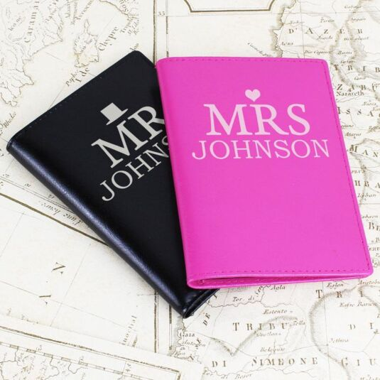 28c211aca Personalised Mr and Mrs Passport Holders Set