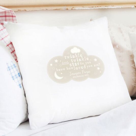 Personalised Twinkle Twinkle Cushion Cover