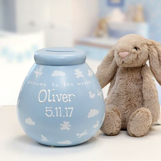 Personalised 'Baby Boy' Money  Pot