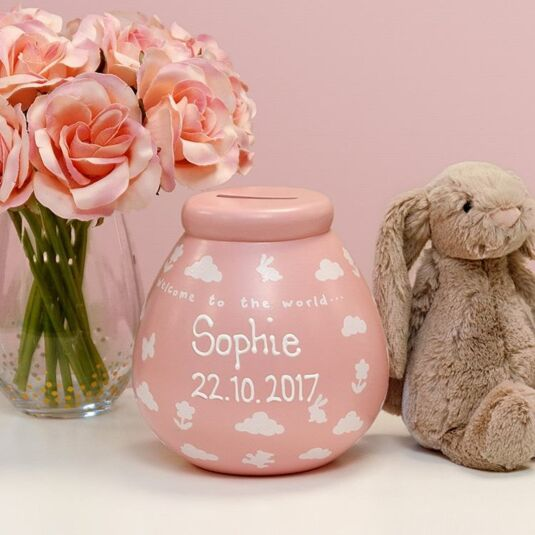 Personalised 'Baby Girl' Money Pot