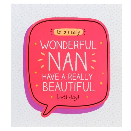 'Wonderful Nan Beautiful Birthday!' Card