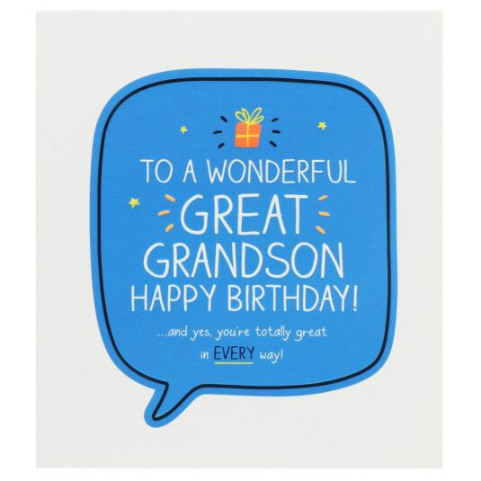'Great Grandson Happy Birthday!' Card