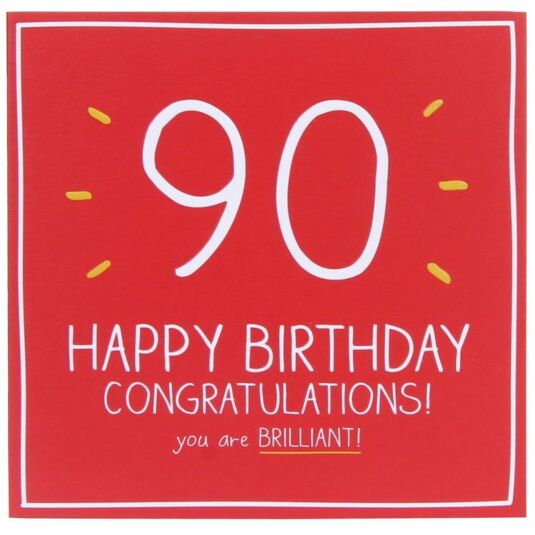 Happy Jackson 90th Birthday Card | Temptation Gifts