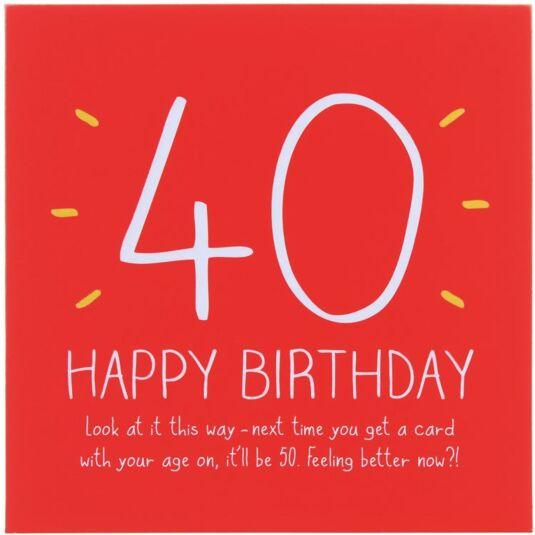 Happy Jackson 40th Happy Birthday Card Temptation Gifts