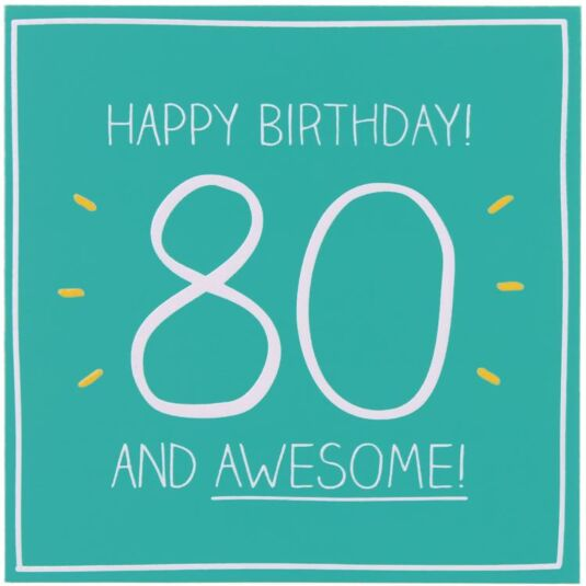 80 & Awesome! Card