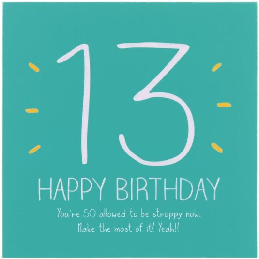 Happy Jackson 13th Happy Birthday Card – 13th Birthday Greetings