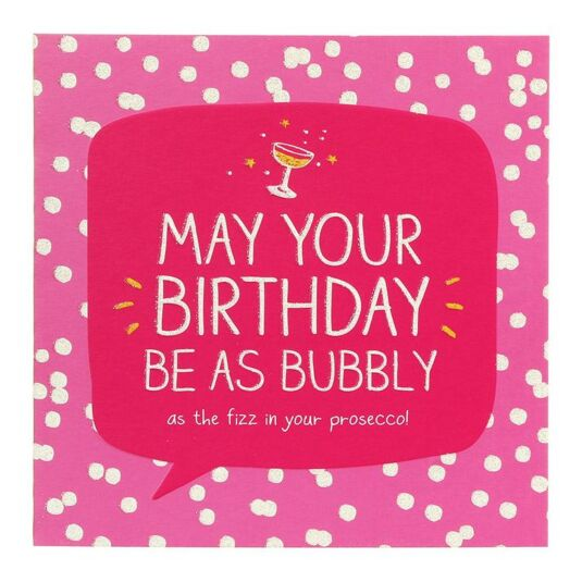 Happy Jackson Bubbly Prosecco Birthday Card Temptation Gifts