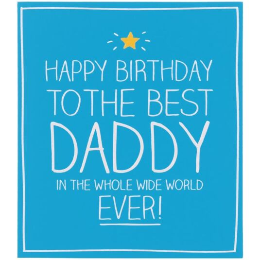 Happy Jackson Happy Birthday to The Best Daddy Card Temptation Gifts