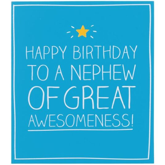 Happy Jackson Happy Birthday Nephew Of Great Awesomeness Card