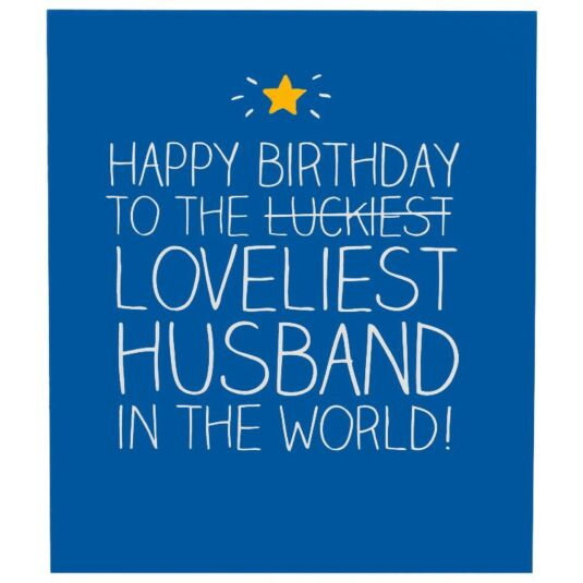 Happy Jackson Loveliest Husband Card