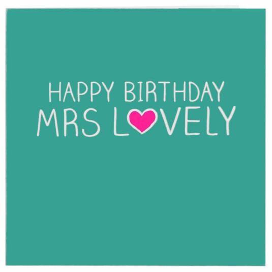 Mrs Lovely Card