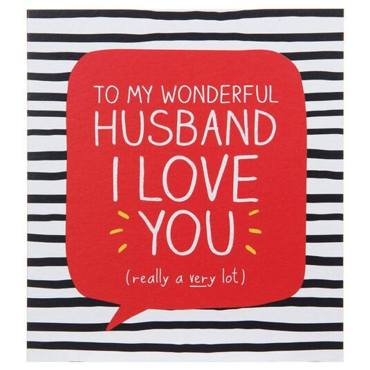 Wonderful Husband Valentine Card