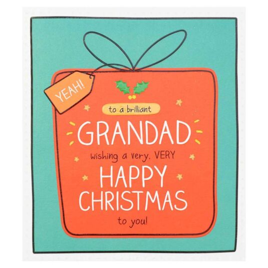 'A Brilliant Grandad' Christmas Card