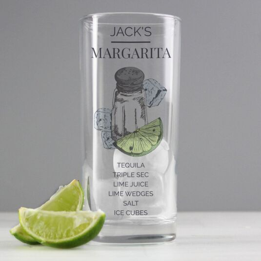 Personalised Margarita Hi Ball Cocktail Glass